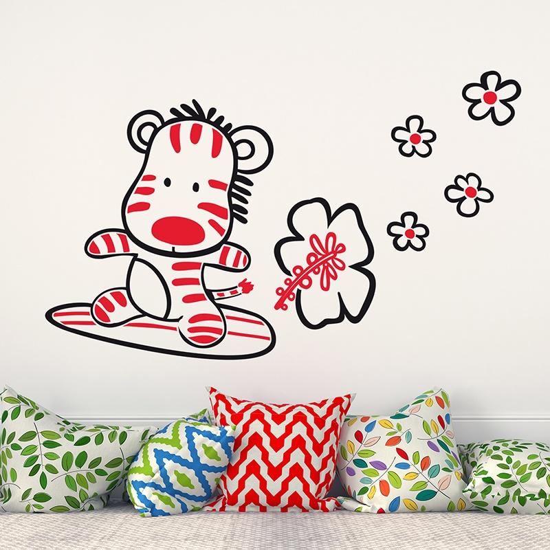 Kinderzimmer Wandtattoo: Mulicolour Surfer