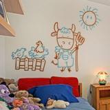 Kinderzimmer Wandtattoo: Vielfarbig Bauer 2
