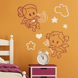 Kinderzimmer Wandtattoo: Multicolour Angel y Demonio 0