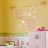 Kinderzimmer Wandtattoo: Multicolour Angel y Demonio 2