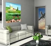 Wandtattoos: Gemälde von Landschaft ein Bauer 3