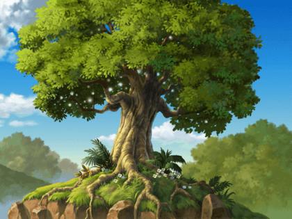 Wandtattoos: Landschaft - Baum-Wurzeln und