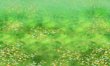 Wandtattoos: Blumen und Gras über die Prärie