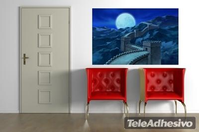 Wandtattoos: China Great Wall in der Nacht