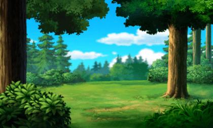 Wandtattoos: Bäume auf der grünen Wiese