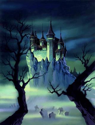 Wandtattoos: Graf Dracula Schloss