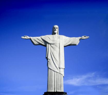 Wandtattoos: Statue von Jesus in Brasilien