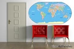 Wandtattoos: Karte der Welt 3