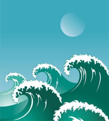 Wandtattoos: Welle des meeres