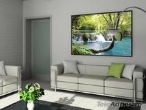 Wandtattoos: Vegetation und Fluss mit Wasserfall 3