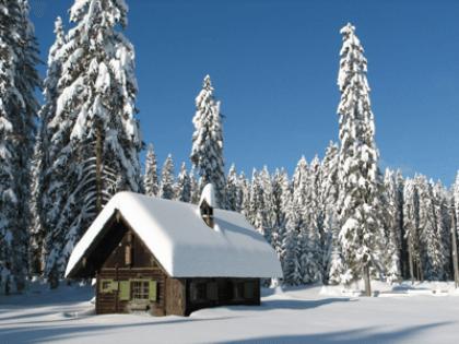 Wandtattoos: Schneebedeckten Landschaft