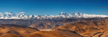 Wandtattoos: Schneebedeckte Berge