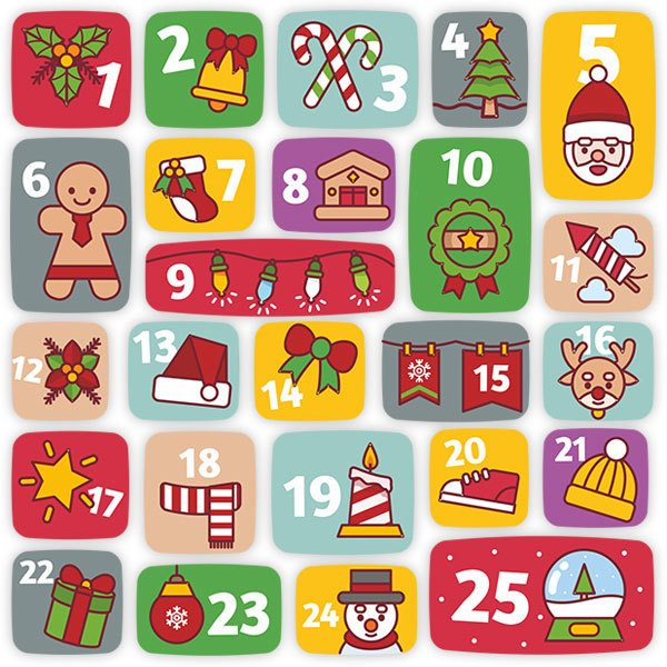 Wandtattoos: Kinder-Adventskalender