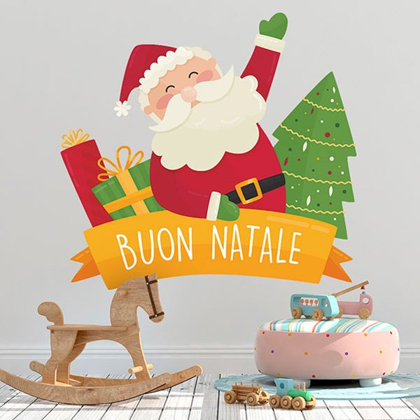 wandtattoo kinder frohe weihnachten auf italienisch. Black Bedroom Furniture Sets. Home Design Ideas