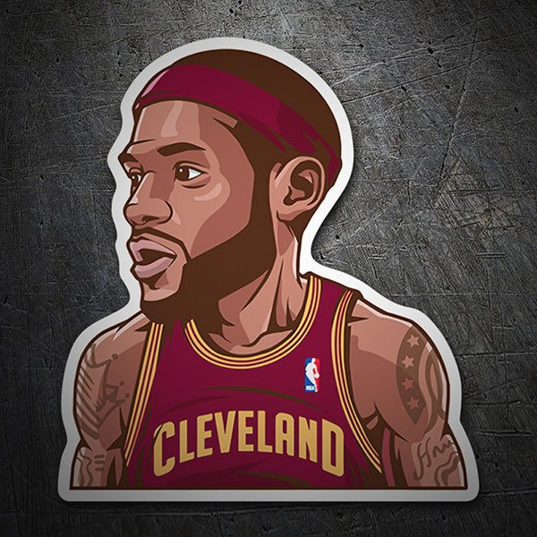 Aufkleber: NBA - Lebron James