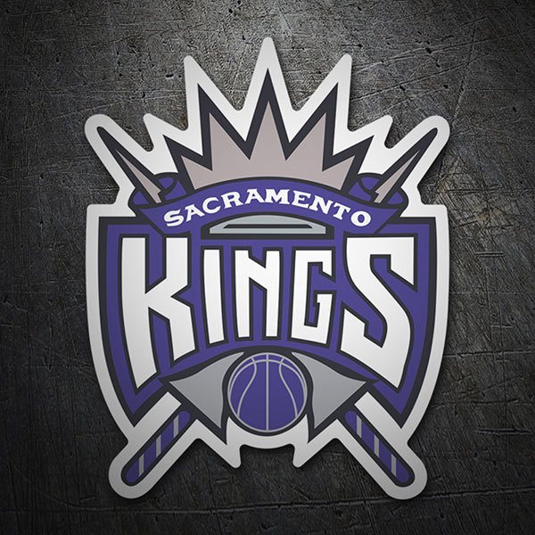 Aufkleber: NBA - Sacramento Kings altes Schild