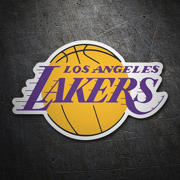 Aufkleber: NBA - Los Angeles Lakers schild