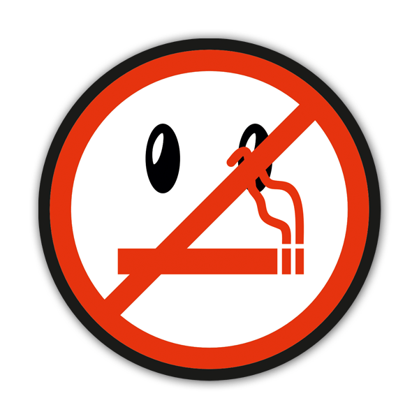 Aufkleber: No smoking 5