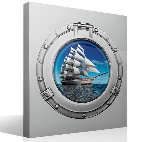 Wandtattoos: Segelschiff 1