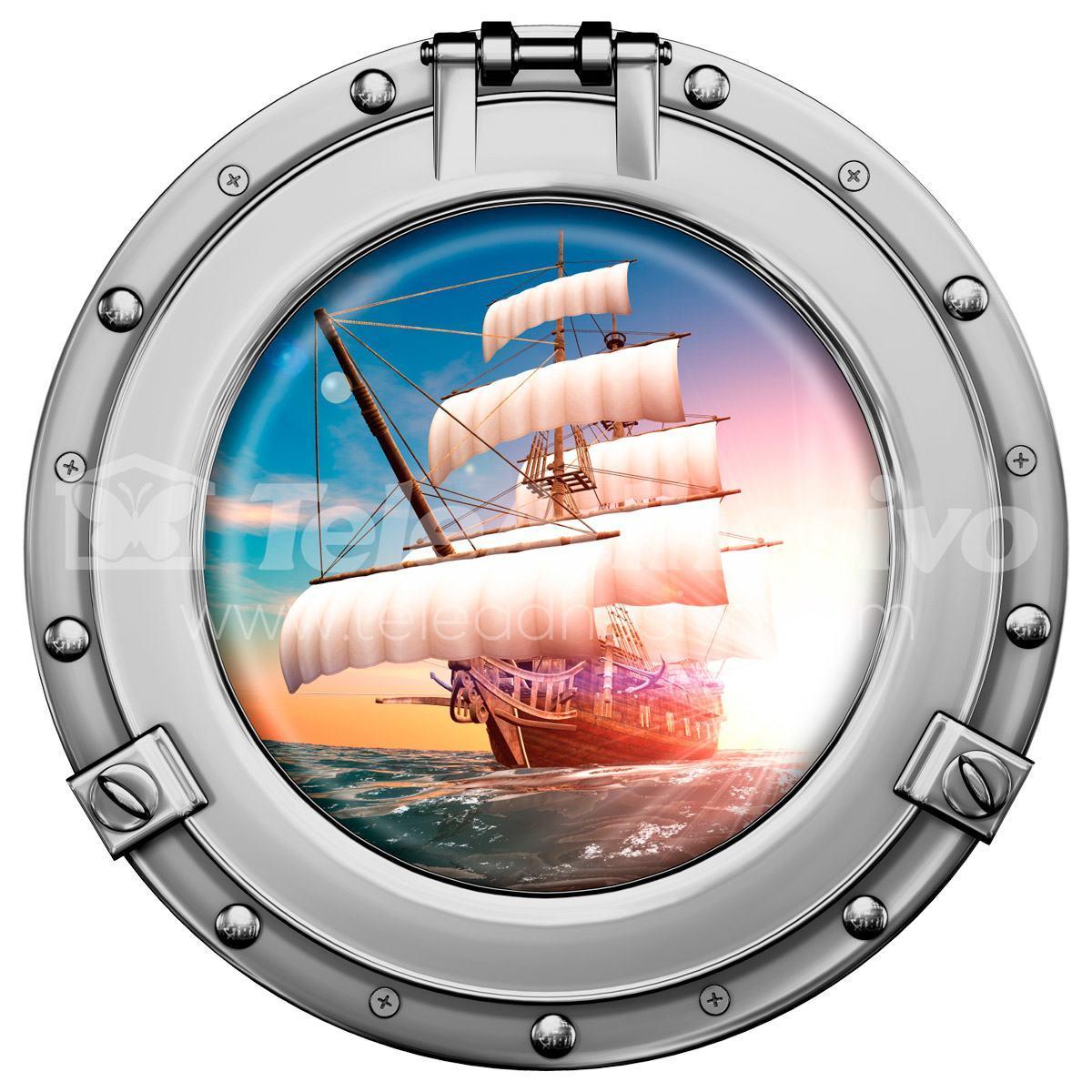 Wandtattoos: Piraten-Segelschiff