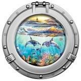 Wandtattoos: Delfine und Segelboot 5