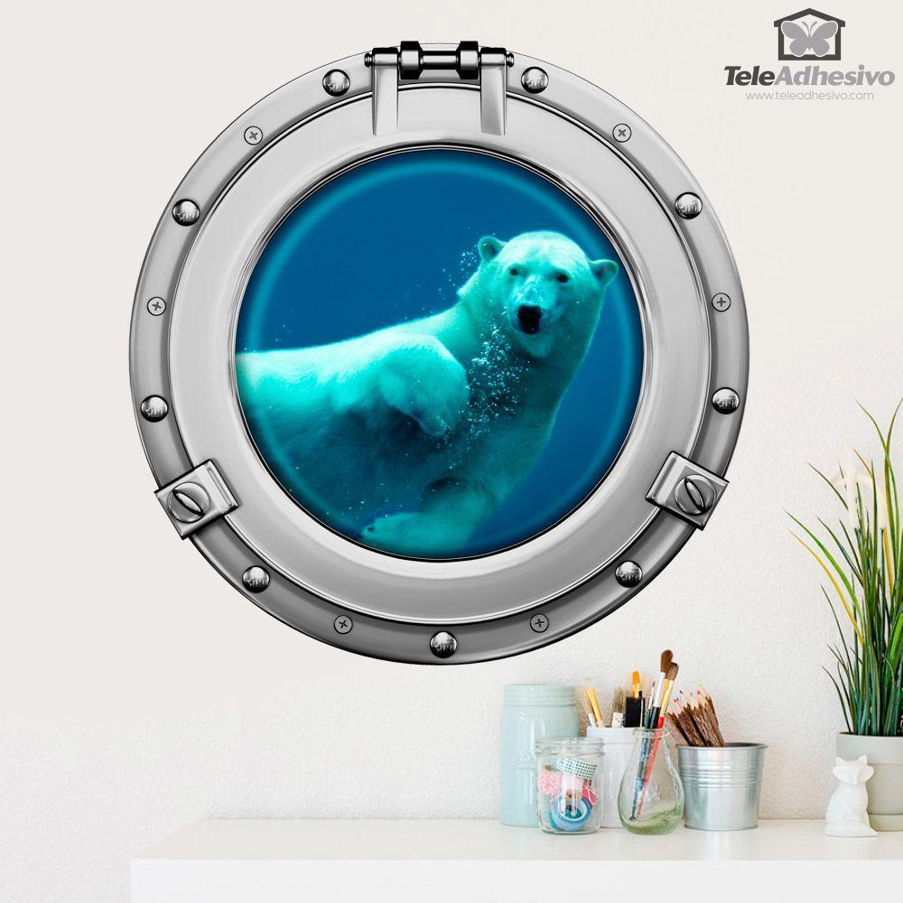Wandtattoos: Eisbär Schwimmen