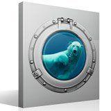 Wandtattoos: Eisbär Schwimmen 4