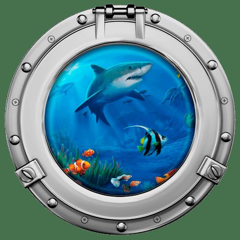 Wandtattoos: Haie und Fische