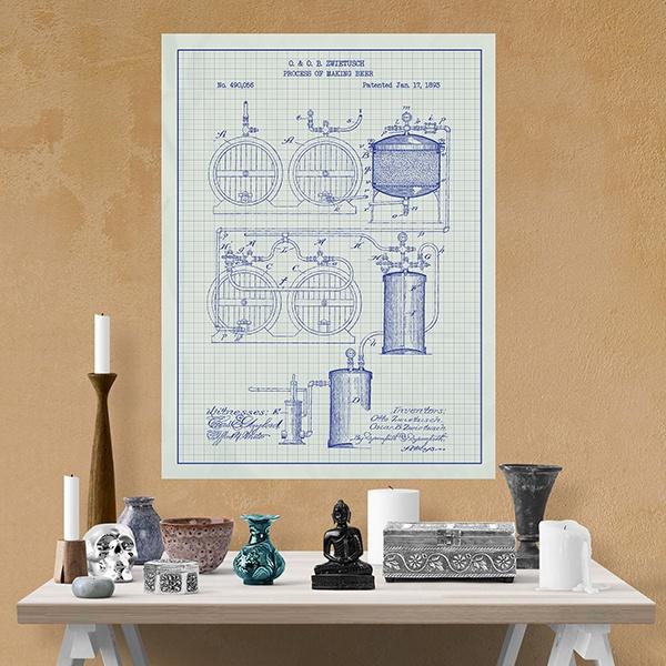 poster selbstklebendes patent verfahren zur herstellung. Black Bedroom Furniture Sets. Home Design Ideas