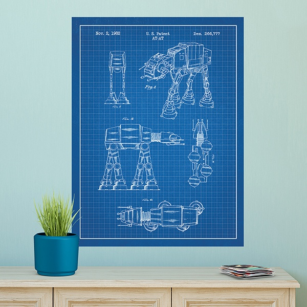 Wandtattoos: AT-AT blaues Patent 1