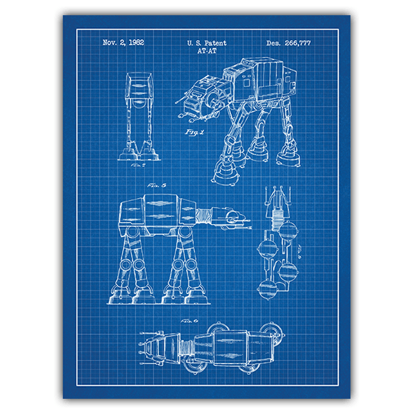 Wandtattoos: AT-AT blaues Patent 0