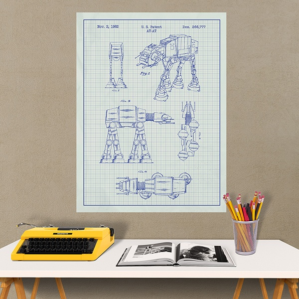 Wandtattoos: AT-AT weiß Patent 1