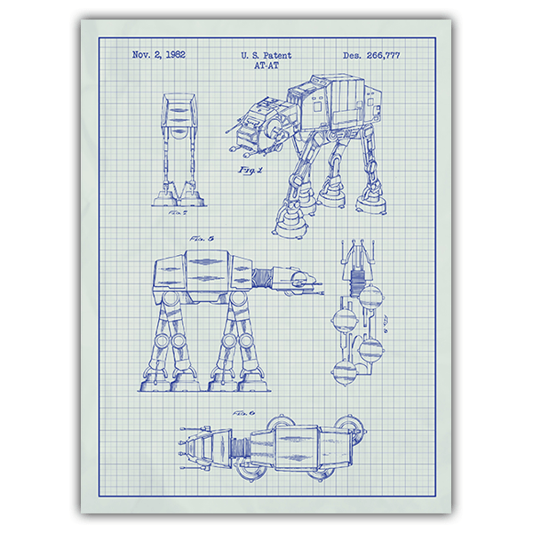Wandtattoos: AT-AT weiß Patent