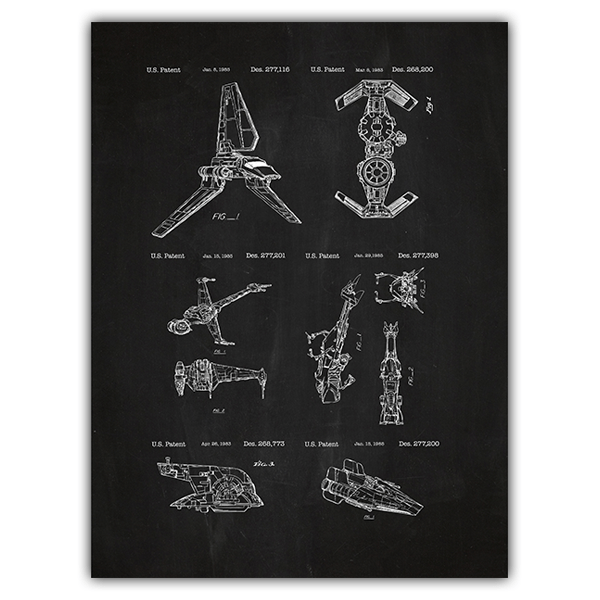 Wandtattoos: Star Wars Schiffe Schiefer Patent 0