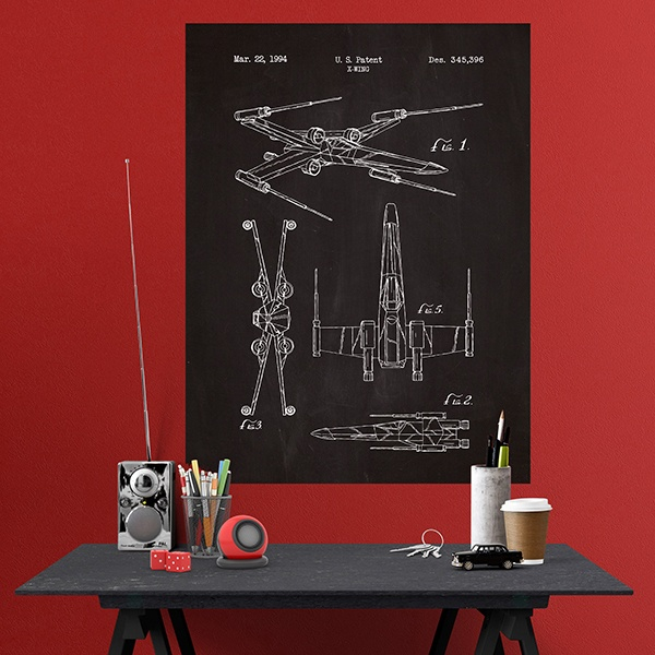 Wandtattoos: X-Wing Patent Schiefer