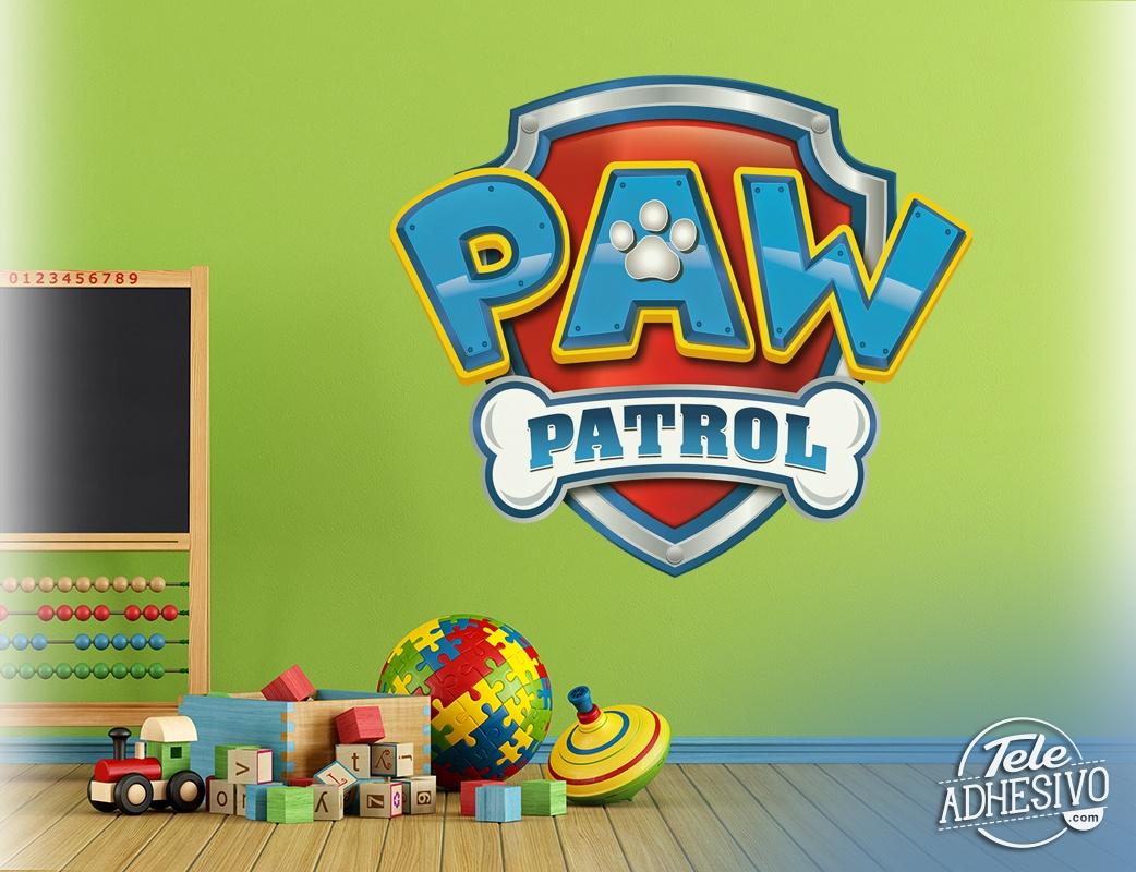 sticker f r kinder paw patrol logo. Black Bedroom Furniture Sets. Home Design Ideas
