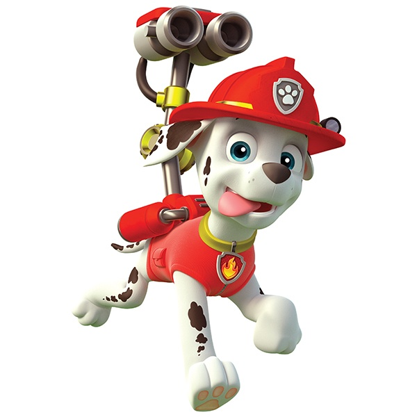 Kinderzimmer Wandtattoo: Paw Patrol - Marshall in Aktion