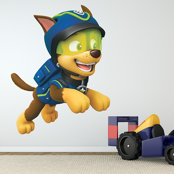 Kinderzimmer Wandtattoo: Paw Patrol - Chase in Aktion