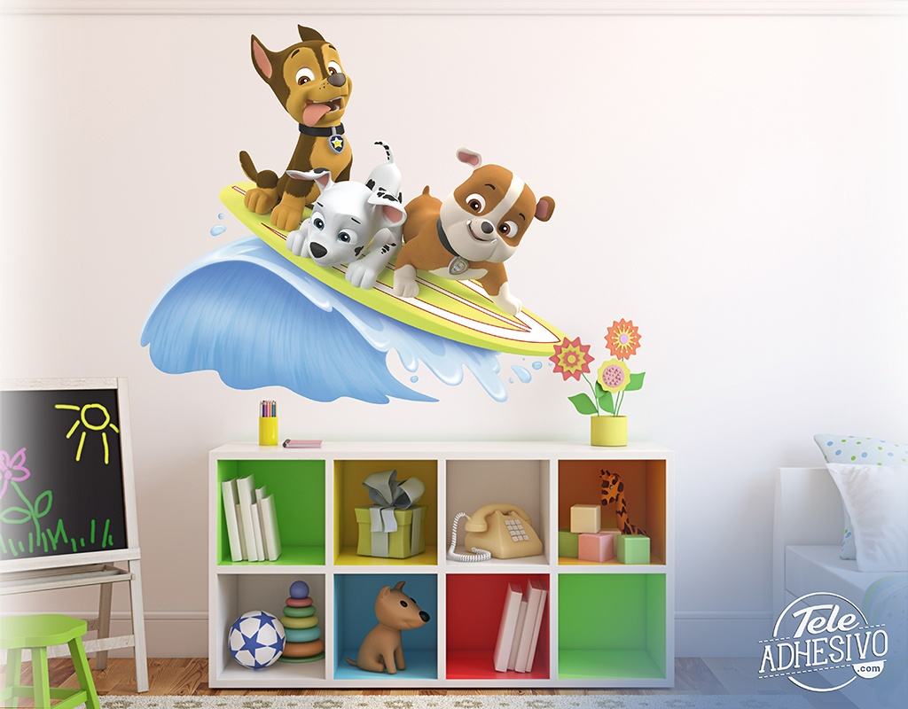 vinyl f r kinder paw patrol chase marshall und rubble surf. Black Bedroom Furniture Sets. Home Design Ideas