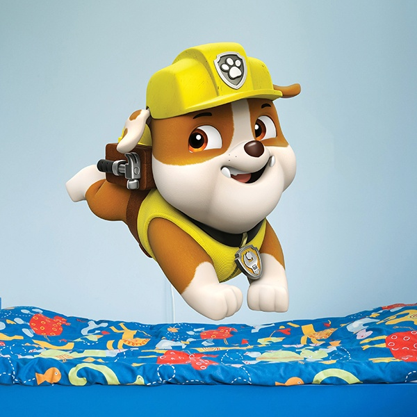 Kinderzimmer Wandtattoo: Paw Patrol - Rubble 2