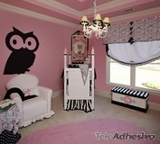 Kinderzimmer Wandtattoo: Slate OWL 2 3