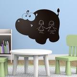 Kinderzimmer Wandtattoo: Hippo 0