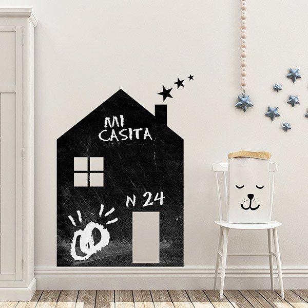 Wandtattoo Tafel Haus mit Sternen | WebWandtattoo.com