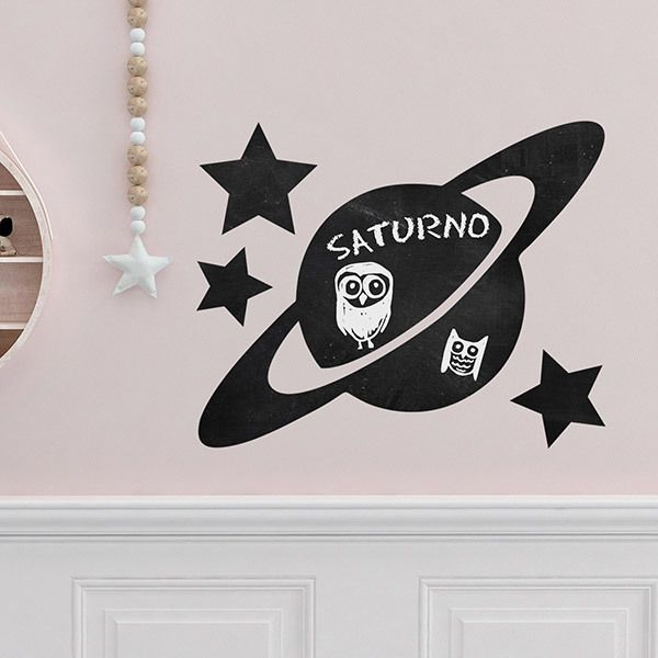 Kinderzimmer Wandtattoo: Tafel Planet Saturn