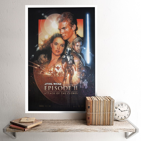Wandtattoos: Klebstoff Poster Star Wars Episode II