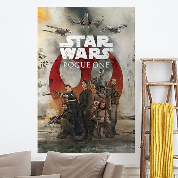 Wandtattoos: Klebstoff Poster Star Wars Rogue One Alliance
