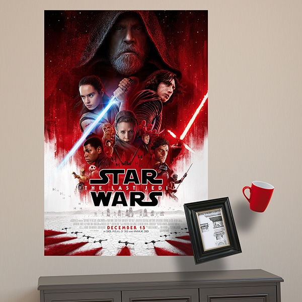Wandtattoos: Klebstoff Poster Star Wars The last Jedi