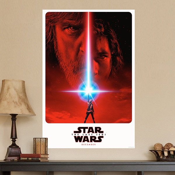 Wandtattoos: Klebstoff Poster Star Wars Episode VIII 1