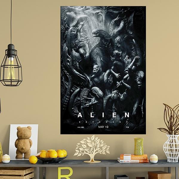 wandtattoos klebstoff poster alien covenant. Black Bedroom Furniture Sets. Home Design Ideas