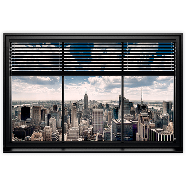 Wandtattoos: Aufkleber Poster Fenster in Manhattan
